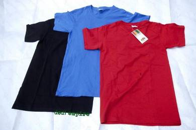 FRUIT OF THE LOOM - baju tshirt leher V (ASLI)