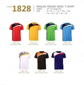 Unisex Adult&Child Raglan Round Neck T-Shirt