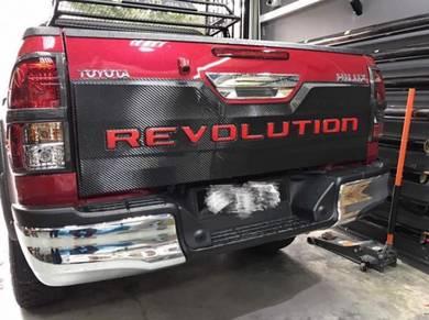 2017 Toyota hilux revo rear bonnet garnish