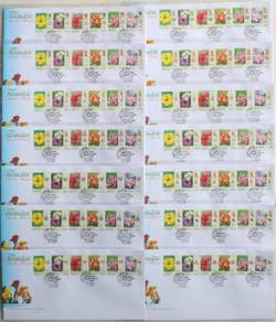 First Day Cover Garden Flowers X 14 Malaysia 2007