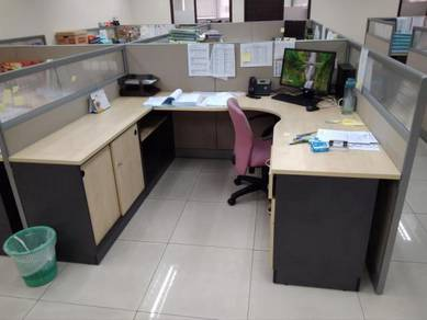Office partition & chairs