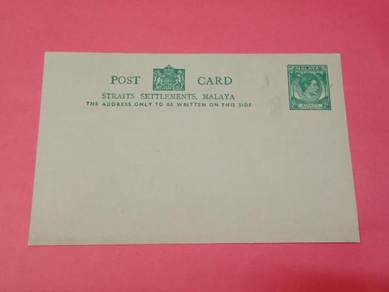 Postcard Straits Settlements 1937 No 2885