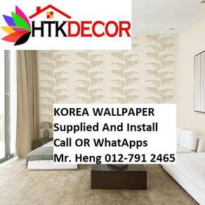 Pretty Wallcovering with Installation85AAB