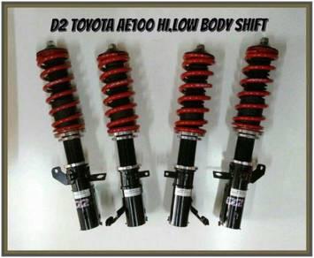 D2 adjustable hi/low bodyshift toyota ae100 seg