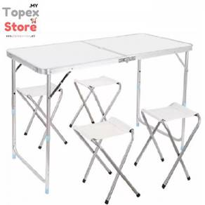 Aluminium Folding Table - Ready Stock - Freee Pos