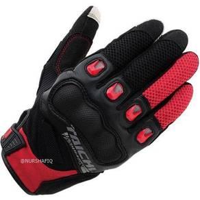 Rs-taichi riding glove (rst-412) black & red