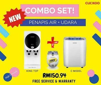 Cuckoo combo penapis udara + penapis air+freegift