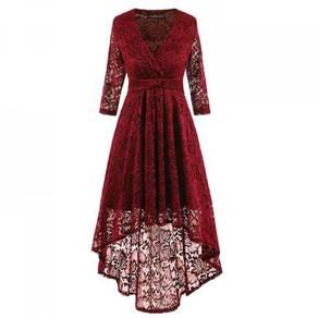 Red black blue lace bridesmaid prom dress RBP0856