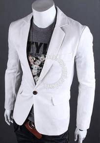 Korean vintage classic slim white blazer
