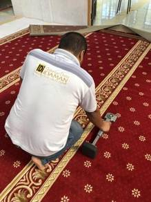 Memasangbekal karpet masjid/ carpet office mn