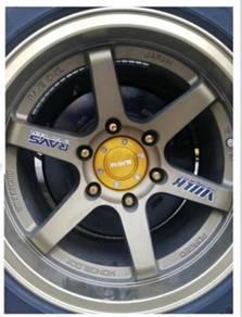 4x4 4 wheels rim center cap rays 106mm one pair