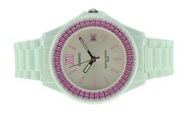 CASIO Ladies White Rubber Date Watch LX-500H-4EVDF