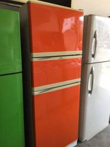 Elba 3 Doors Refrigerator Orange Peti Sejuk Ais