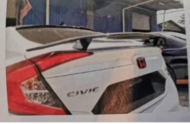 Honda Civic 2016 SI Spoiler Fiber
