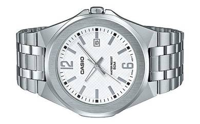 Casio Men Stainless Steel Date Watch MTP-E158D-7AV