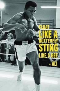 Poster MUHAMMAD ALI QUOTE FLOAT LIKE A