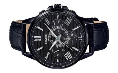 Casio Men Multi Hands Leather Watch MTP-EX300BL-1A