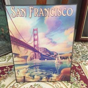 Wooden decorative poster - SF