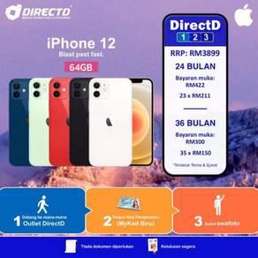 APPLE iPhone 12 64GB (Bulanan RM150, TANPA DOKUMEN