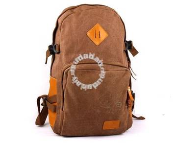 Vintage Bag Multi-Functional Men Backpack (Brown)