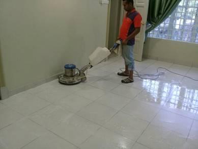 Marble terrazzo parquet polishing
