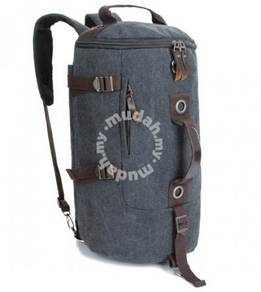 Barrel Backpack Multifunction Notebook Bag (Black)