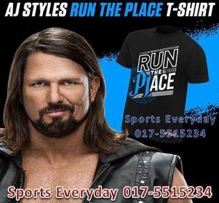 WWE Shirts AJ Style Run The Place Original Top Men