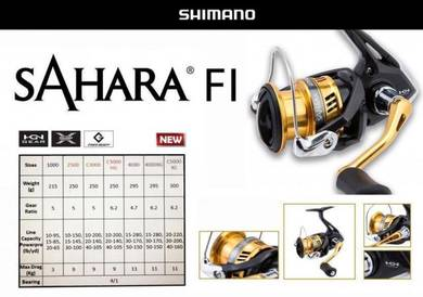 NEW SHIMANO SAHARA FI (1000~4000) Fishing Reel