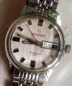 Jam Helbros Invincible vintage DD watch