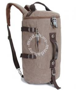 Barrel Backpack Multifunction Notebook Bag(Coffee)