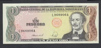 Dominican Republic 1 Peso Oro P.126 1988 UNC