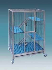 Grade 304 Stainless Steel Cat Cage - Rust Free