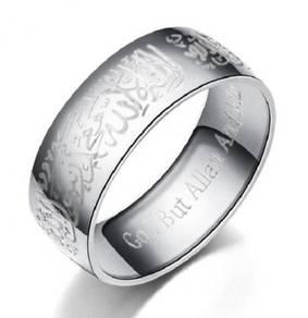 Muslim Muslimah Ring Cincin Islam Allah silver