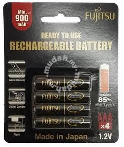 Fujitsu 4pcs AAA 950mAh NiMH Rechargeable Battery