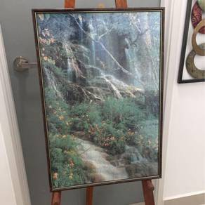Puzzle with glass frame - waterfall