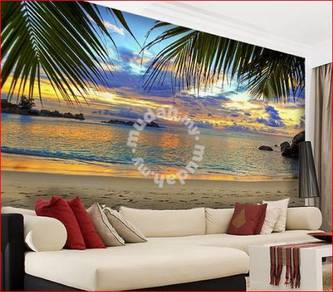 Mural Art - Beach Shunset