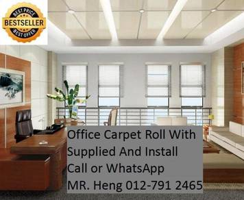 Natural Office Carpet Roll with install RL40