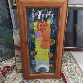 Horoscope poster with glass frame - aries