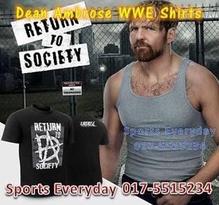 WWE Shirts Dean Ambrose Return To Society Top Baju