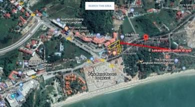 Tanah Pantai Cenang Langkawi Depan Aseania Resort