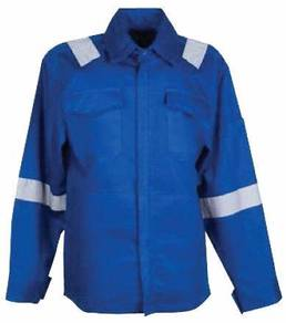 Worker Jacket with Reflector Strip Royal Blue