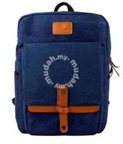 Stylish Bag Korean Notebook Casual Backpack (Blue)