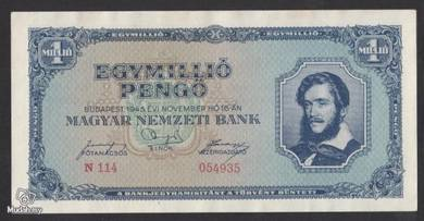 Hungary 1945 1 millio milpengo vf