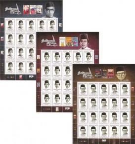 Mint Stamp Sheet Laureates Sasterwanan Msia 2016