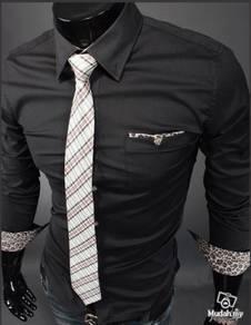Korean character retro-leopard stripe slim shirt