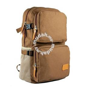 Vintage Canvas Backpack Travel Hiking Bag (Khakis)