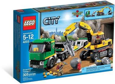 LEGO 4203 Excavator Transporter