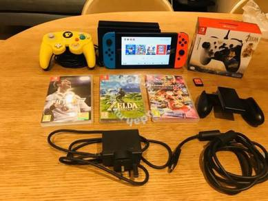 Nintendo Switch Console Bundle- 4 games Zelda