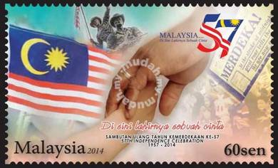 Mint Stamp 57th Independence Malaysia 2014