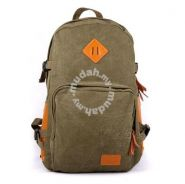 Vintage Bag Multi-Functional Backpack (Army Green)